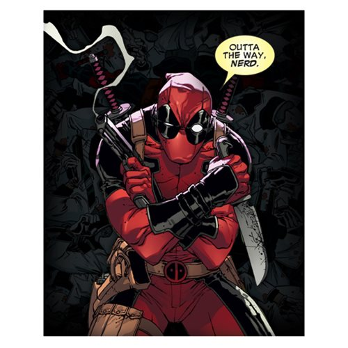 Deadpool Outta The Way, Nerd Canvas Print