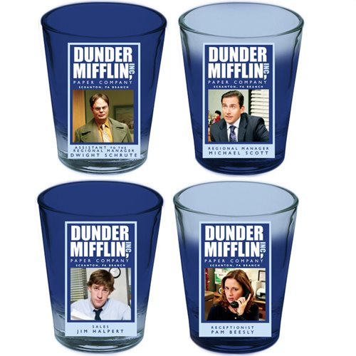 The Office 4-Pack Mini-Glass Set