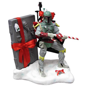 Star Wars Boba Fett with Carbonite Christmas Statue, Not Mint