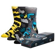Batman Batmobile Crew Sock 3-Pack Box Set