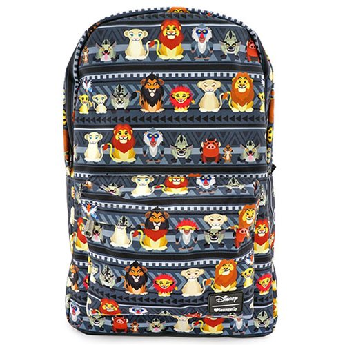 Lion King Chibi Print Nylon Backpack