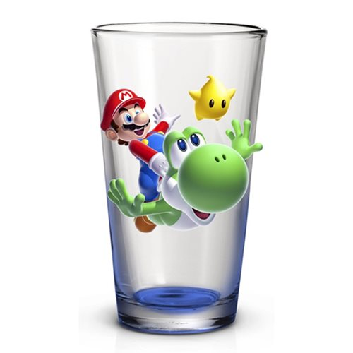 Super Mario Galaxy Mario and Yoshi 16 Oz. Pint Glass