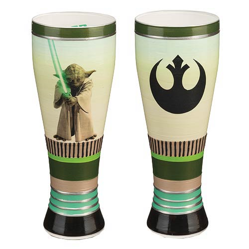 Star Wars Yoda 20 oz. Hand Painted Pilsner Glass