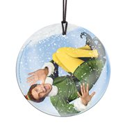 Elf Snowglobe StarFire Prints Hanging Glass Print