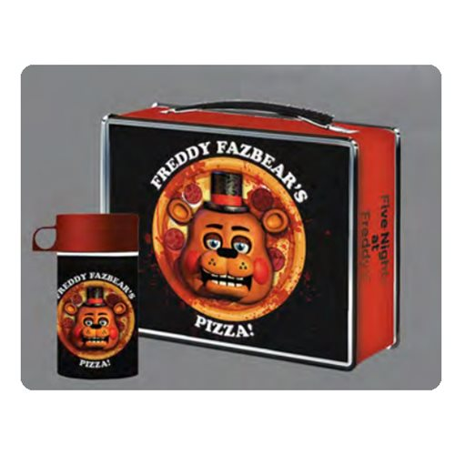 Five Nights at Freddy's Pizza Lunchbox with Drink Container