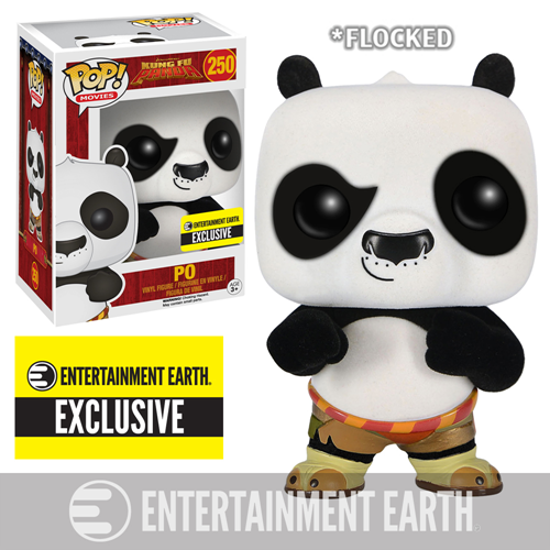 Kung Fu Panda Flocked Po Pop! Vinyl Figure - Entertainment Earth Exclusive