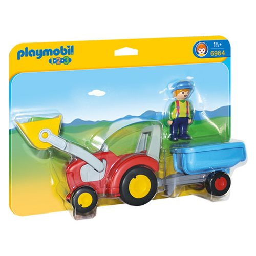 Playmobil 6964 Tractor with Trailer