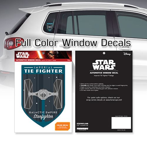 Star Wars Imperial TIE Fighter Badge Window Decal
