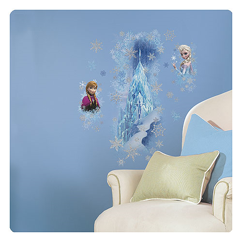 Disney Frozen Ice Palace with Elsa and Anna Peel and Stick Giant Wall Decal