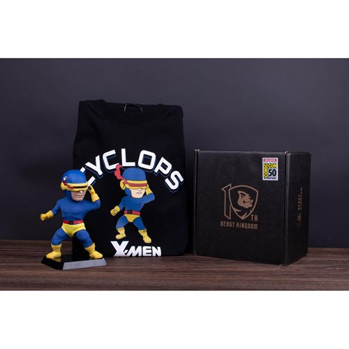 X-Men Cyclops Classic Costume Version EAA-085DX Action Figure with Large T-Shirt - Previews Exclusiv