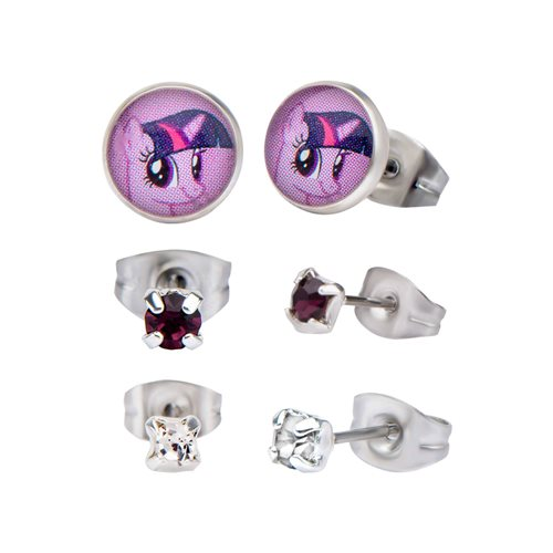My Little Pony Twilight Sparkle Earring Set