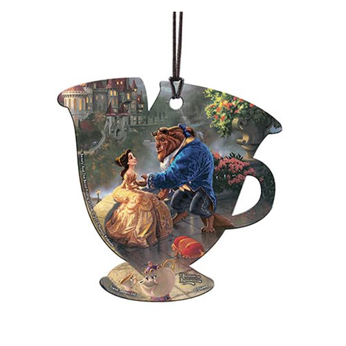 Beauty and the Beast Falling in Love Thomas Kinkade Hanging Acrylic Print