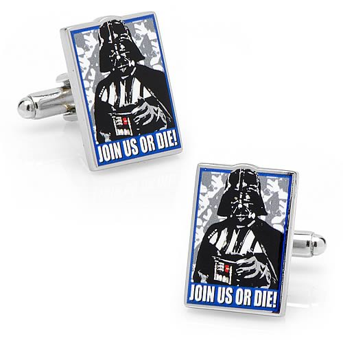 Star Wars Join Us Or Die Darth Vader Propaganda Cufflinks