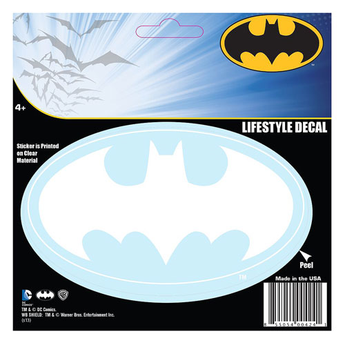 Batman Classic Logo White Decal