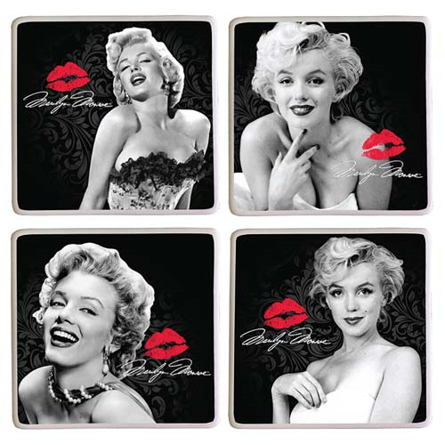 Marilyn Monroe Ceramic Coaster 4-Pack
