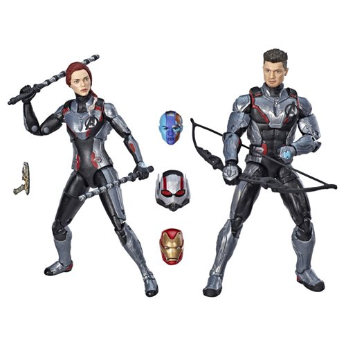 Avengers Marvel Legends Series 6-Inch Black Widow and Hawkeye Action Figure Set, Not Mint