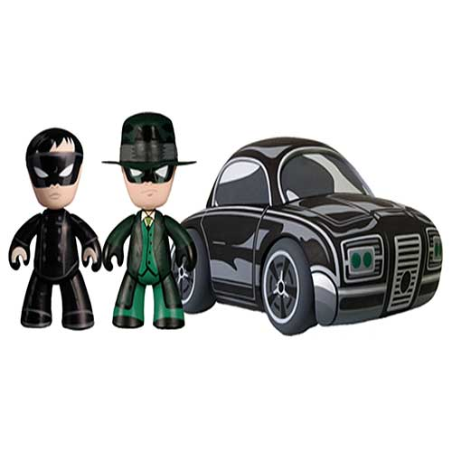 Green Hornet Mini-Mez-Itz with Black Beauty Vehicle
