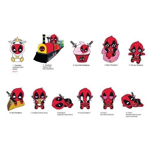 Deadpool Series 4 Figural Key Chain Display Case