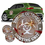 Zombie Outbreak Hunting Unit Gray FanWraps Car Decal