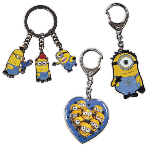 Despicable Me Minions Die-Cast Metal Key Chain Set