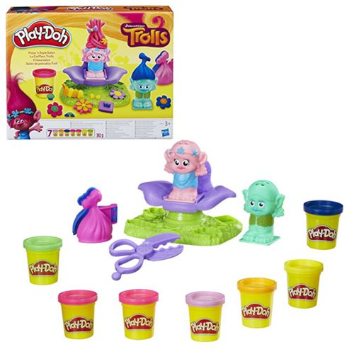 Trolls Play-Doh Press N Style Salon