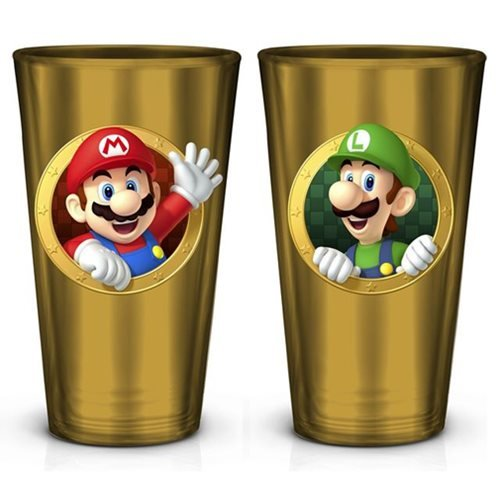 16oz Mario brother/'s etched pint glass.