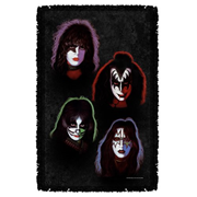 KISS Solo Heads Woven Tapestry Throw Blanket