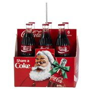 Coca-Cola Bottle 6-Pack 2 1/2-Inch Resin Ornament