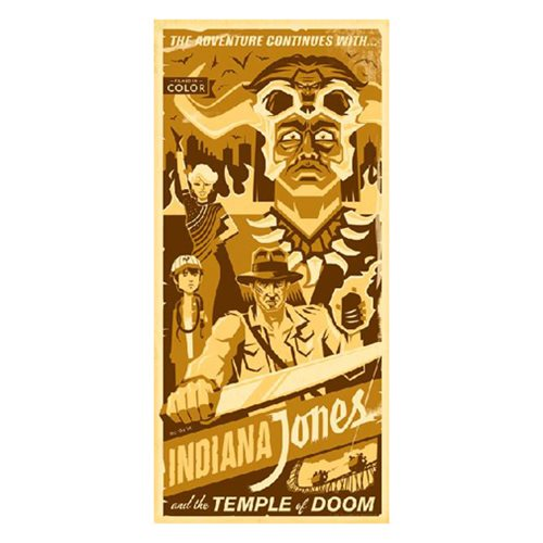 Indiana Jones The Adventure Continues With by Eric Tan Gallery Wrapped Canvas Giclee Art Print