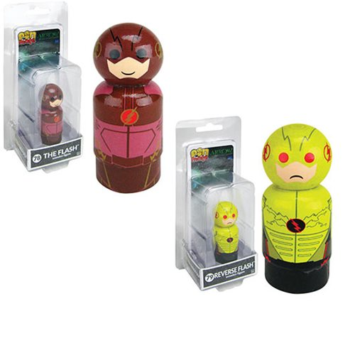 Arrow TV Series Flash and Reverse Flash Pin Mates Wooden Collectibles Set