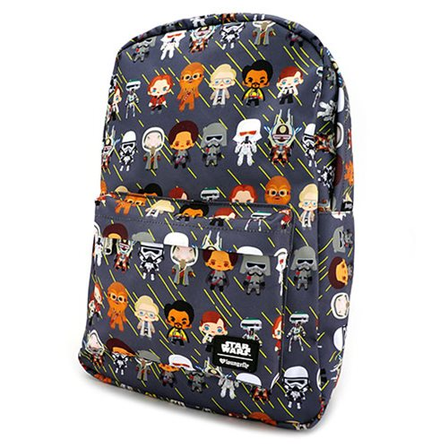 Star Wars Solo Chibi Character Print Backpack