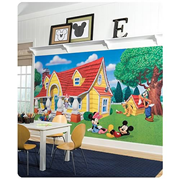 Disney Mickey and Friends Chair Rail Prepasted Wall Mural