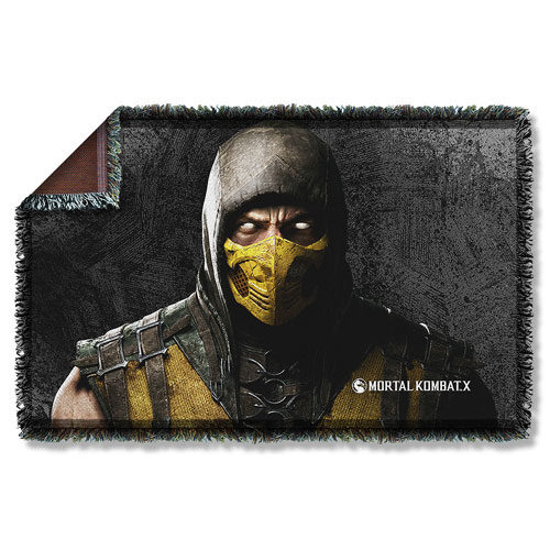 Mortal Kombat X Scorpion Woven Tapestry Throw Blanket