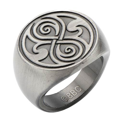 Doctor Who Seal of Rassilon Signet Finger Ring