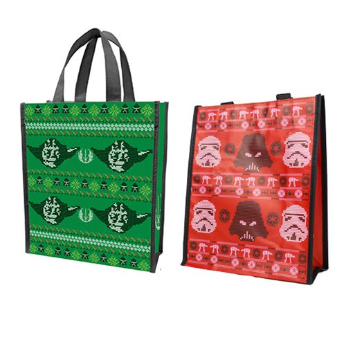 Star Wars Ugly Sweater Yoda Small Recycled Shopper Tote