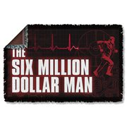 Six Million Dollar Man Logo Woven Tapestry Throw Blanket