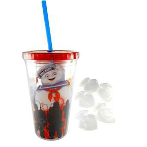 Ghostbusters Stay Puft Tumbler with Ice Cubes
