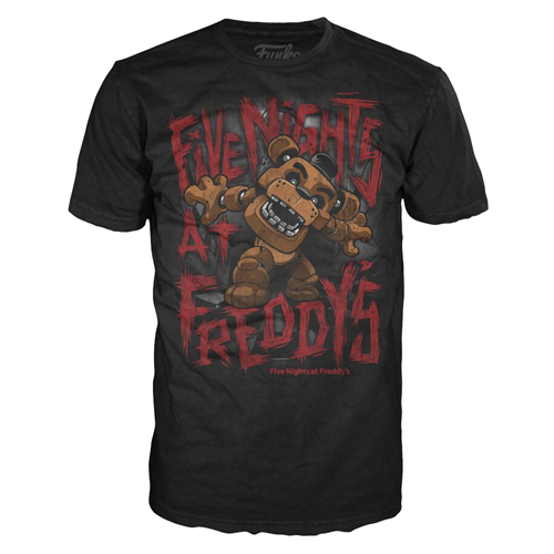 Five Nights at Freddy's Freddy Fazbear Youth Black T-Shirt