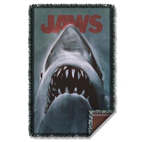 Jaws Woven Tapestry Blanket