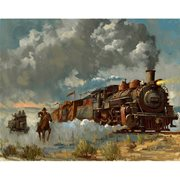 Indiana Jones Chasing the Iron Horse by David Tutwiler Canvas Giclee Art Print