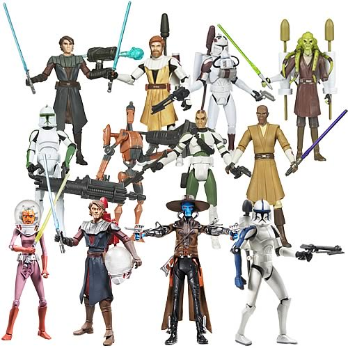 Star Wars Clone Wars Action Figures Wave 8 Case