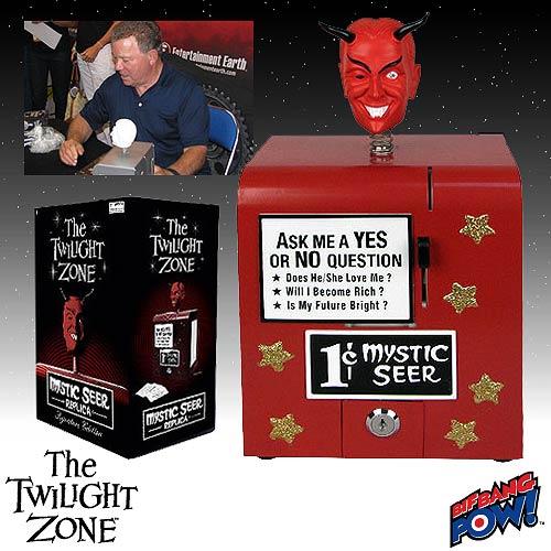 The Twilight Zone Mystic Seer Prop Replica Red William Shatner Signature Edition