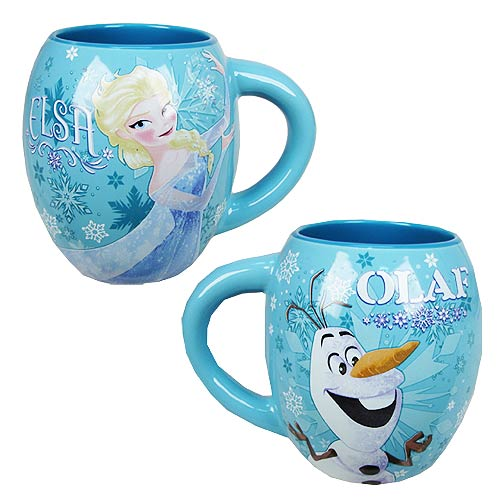 Disney Frozen Elsa and Olaf 18 oz. Oval Mug