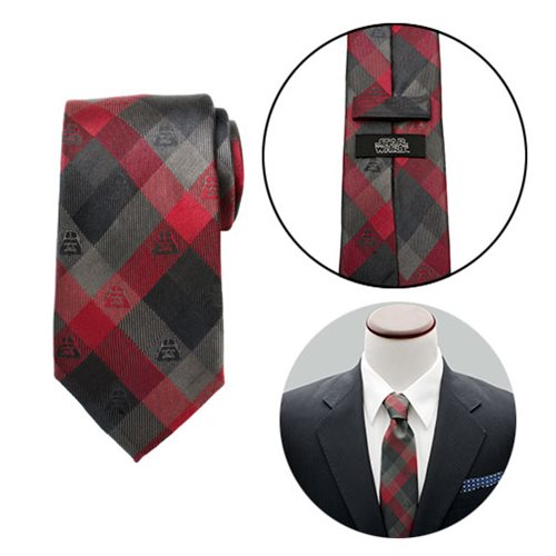 Star Wars Darth Vader Red Plaid Mens Tie
