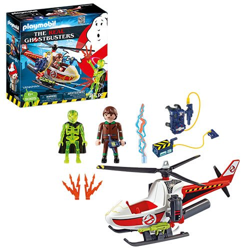 Playmobil 9385 The Real Ghostbusters Venkman with Helicopter