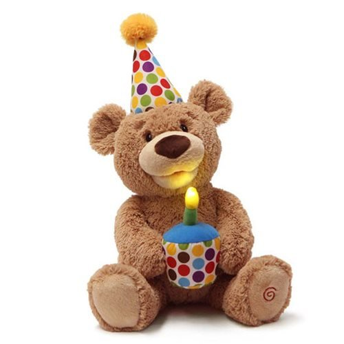 Teddy Bear Happy Birthday Animated Plush