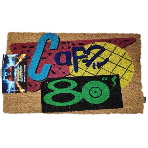 Back to the Future 80's Cafe Coir with Rubber Backing Doormat
