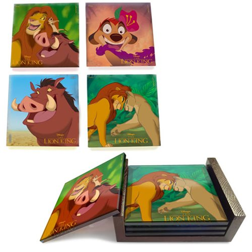 The Lion King StarFire Prints Glass Coaster Set