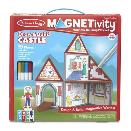 Magnetivity Draw and Build Castle Magnetic Building Play Set