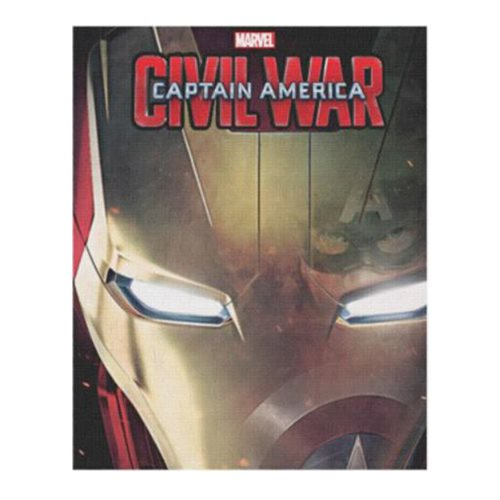 Captain America: Civil War Cap in Iron Man's Reflection Wood Wall Art